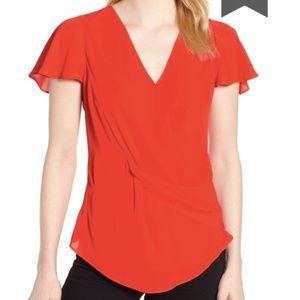 trouve | knot front blouse